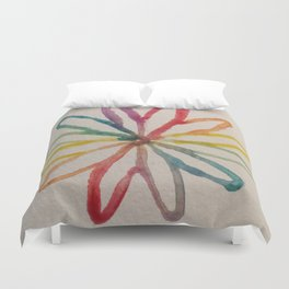 Spirograph Rainbow flower Duvet Cover