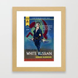 """""""Tales of the White Russian"""" Book Cover Framed Art Print"""