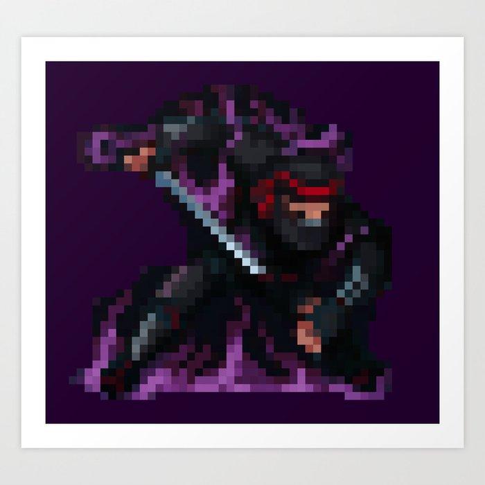 Ninja Assassin Pixelart Art Print By Tokkatrain