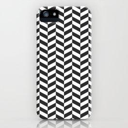 Charcoal Gray Herringbone Pattern iPhone Case