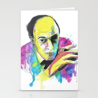 roald dahl Stationery Cards featuring Roald Dhal Watercolor by Enerimateos