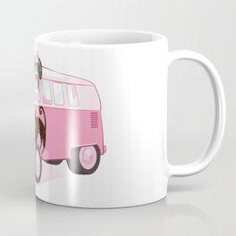 Happy pink bus Coffee Mug