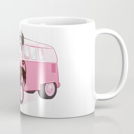 Happy pink bus Coffee Mug