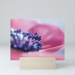flower purple Mini Art Print