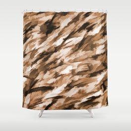 Beige Designer Camo Shower Curtain