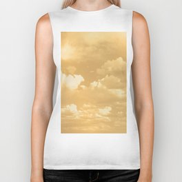 Clouds in a Golden Sky Biker Tank