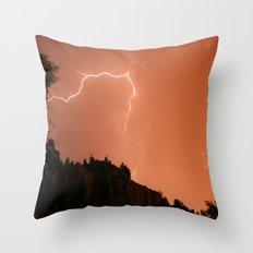 Pink Flash Throw Pillow
