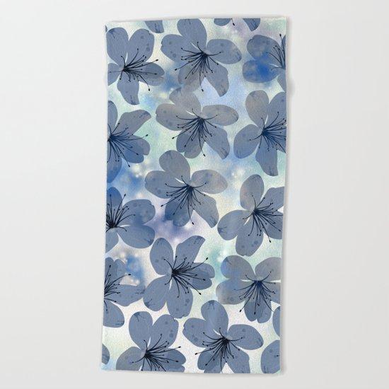 Floral Pattern C Beach Towel