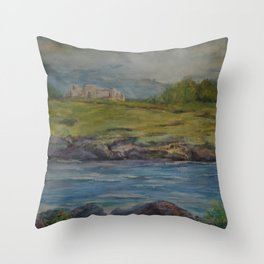 Castle Ruins MM151125-13 Throw Pillow