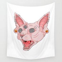 Freaky Kitty v.2 Wall Tapestry