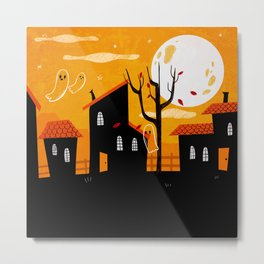 A Haunting We Will Go Metal Print