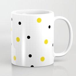 Seamless Black Yellow Dots Pattern Coffee Mug