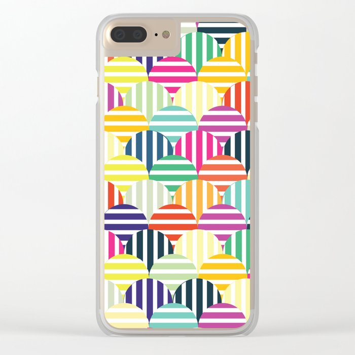 Colorful Circles IV Clear iPhone Case