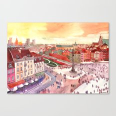 Evening in Warsaw Canvas Print