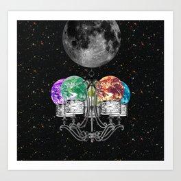Planet Chandelier Art Print