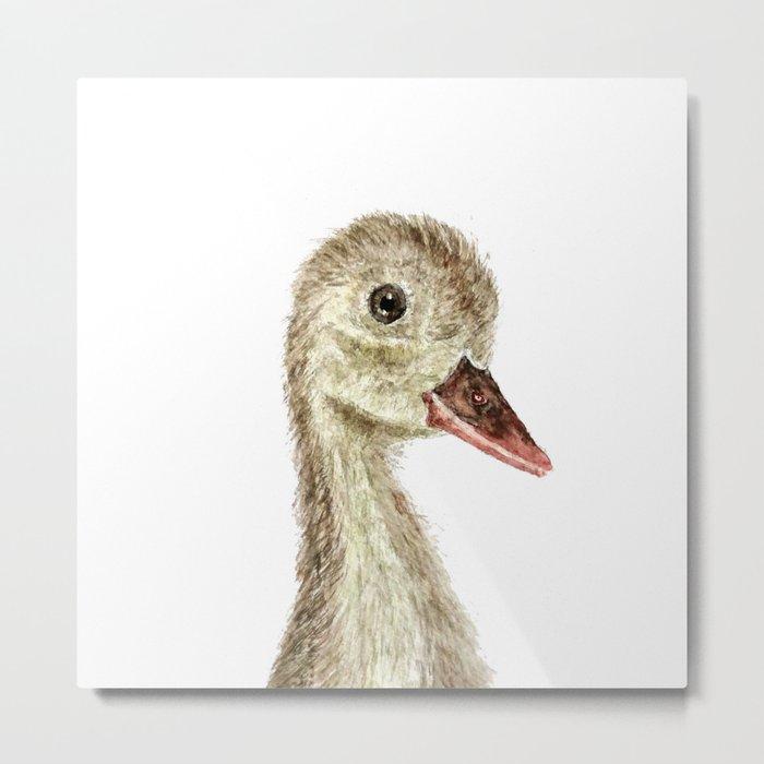 smiling little duck Metal Print
