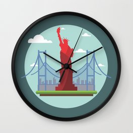Statue in the scope Wall Clock