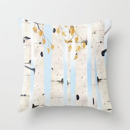 Birch Trees 3  Throw Pillow