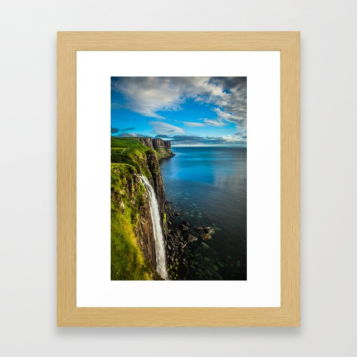 Skye Falls Framed Art Print