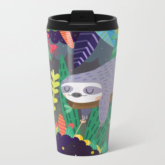 Sloth in nature Metal Travel Mug