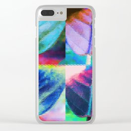 Abstract Leaf Colors Clear iPhone Case