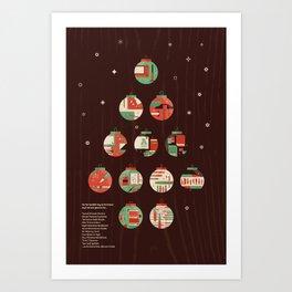 The Twelve Days of a Designers Christmas Art Print