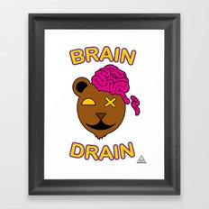 Brain Drain  Framed Art Print