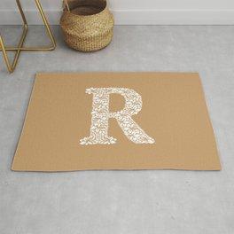 Floral Letter R Rug