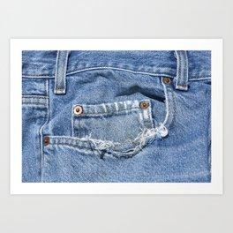Old Jeans Art Print