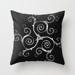 Magic Mandala Twisted Triskele Throw Pillow