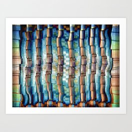 Abstract Architectural Pillars Art Print
