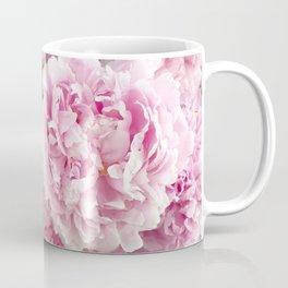 Pink Shabby Chic Peonies - Garden Peony Flowers Wall Prints Home Decor Coffee Mug