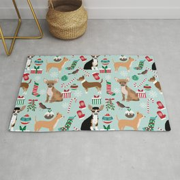 Chihuahua christmas best gifts for chihuahua owners dog pet portraits pet friendly Rug