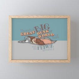 Fences Framed Mini Art Print