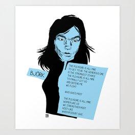 musicstrokes_bjork Art Print