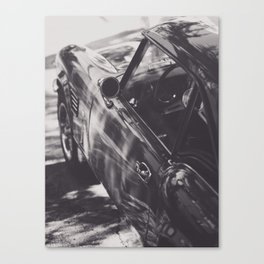 Triumph spitfire, black & white photography, Peter Lindbergh style, english sports car Canvas Print