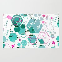 bees Area & Throw Rugs featuring Bees by rudziox