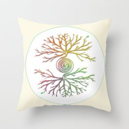 Tree of Life in Balance Throw Pillow