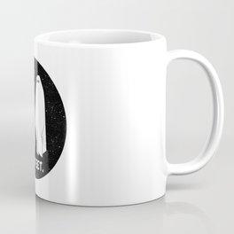 No Feet Ghosts Black and White Graphic Coffee Mug