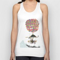brompton Tank Tops featuring Riding A Bicycle Through The Mountains by Wyatt Design