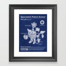 Specialist Patrol Armor (Navy Blue) Framed Art Print