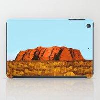 polygon iPad Cases featuring uluru polygon by Matthias Hennig