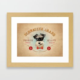 Schnauzer Brand Cigars Framed Art Print