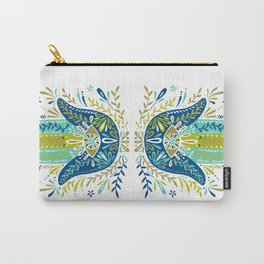 Hamsa Hand – Lime, Turquoise & Navy Palette Carry-All Pouch