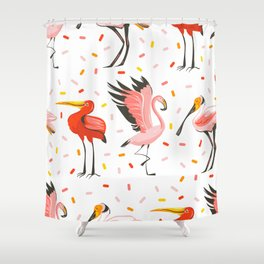 Flamingo Fam Shower Curtain