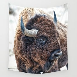 Bison the Mighty Beast Wall Tapestry