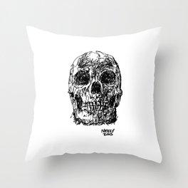Badass Skull Study Throw Pillow