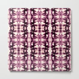 Tie Dye Burgundies Metal Print