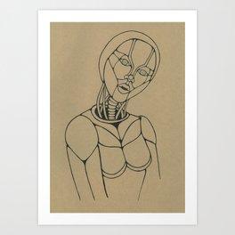 Hypnotic Robotic Supersonic Art Print