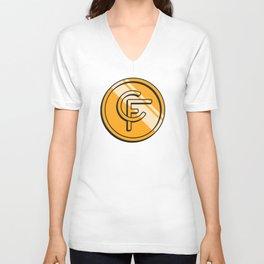 Coinfinds Logo Unisex V-Neck